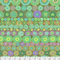 Kaffe Fassett Classics - Row Flowers PWGP169 GREEN Quilt Fabric