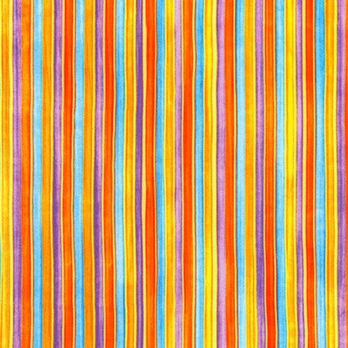 Robert Kaufman Synchronicity Stripe Mardi Gras 18694-297 Quilt Fabric