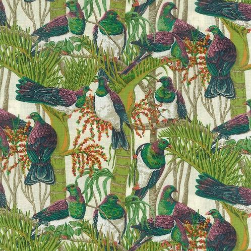 Nutex Kiwiana Wood Pigeon 88810 Col1 Quilt Fabric