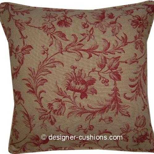 Laura Ashley Scrollwork Raspberry Cushion Cover