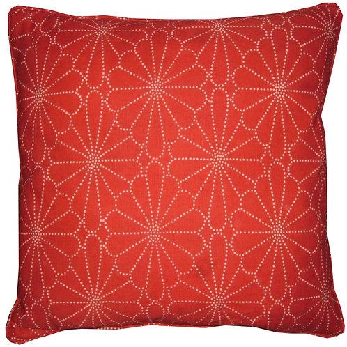 Romo Kenzan Red Cushion Covers