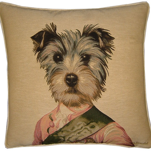 Thierry Poncelet Yorkshire Terrier Tapestry Cushion Cover