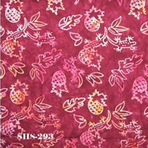 Java Batik SHS-293 Red Pineapples Quilt Fabric
