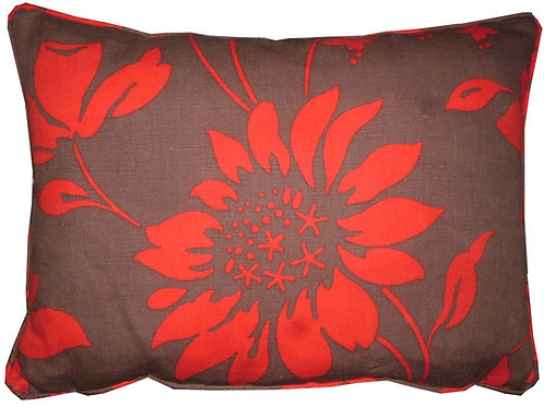 Romo Cicely Chocolate & Red Oblong Cushion Cover