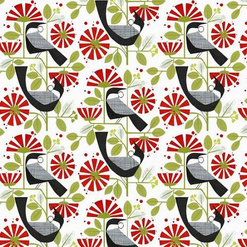 Nutex Kiwiana Tui Garden Quilt Fabric 88930