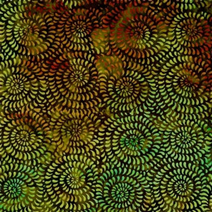 Mirah Zriya Love Nest Batik Green Toast P/LV-02-5680 Quilt Fabric