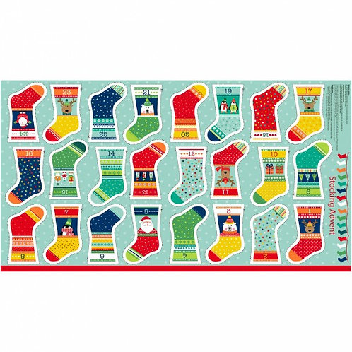 "Makower Novelty Stocking Advent Calendar 60cm / 24"" panel"