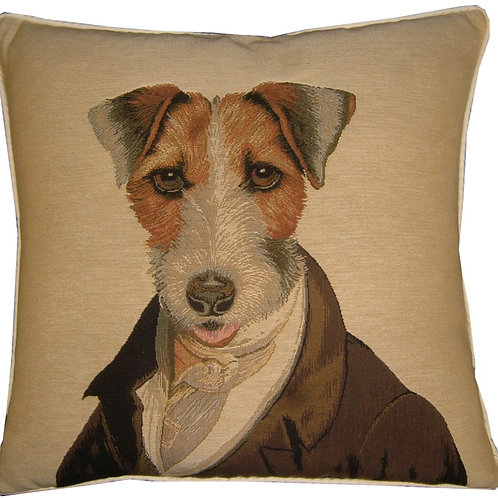 Thierry Poncelet Fox Terrier Tapestry Cushion Cover