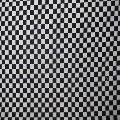 Nutex Novelty Black & White Check Quilt Fabric