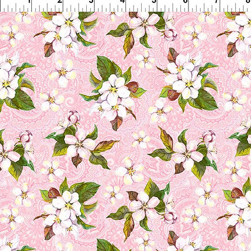 In the Beginning 'Pretty in Pink' Pink Blossom 3PIP-1 Quilt Fabric