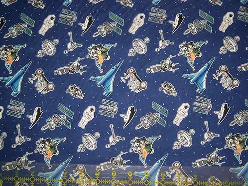 Avlyn Space Themed Solar System Astronauts Quilt Fabric