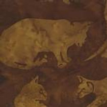Island Batiks 121416023 Wild Cats Light Brown Quilt Fabric