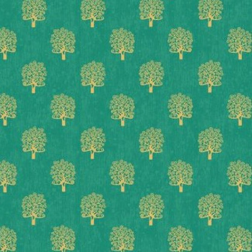 Makower 'Rhapsody' Trees 93600 Col4 Quilt Fabric