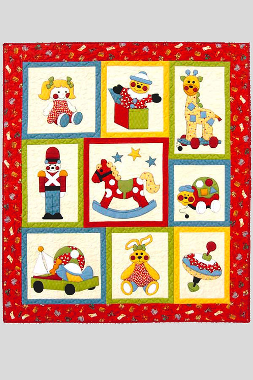 Kids Quilts 'Ye Olde Toy Shop' Cot Quilt Pattern