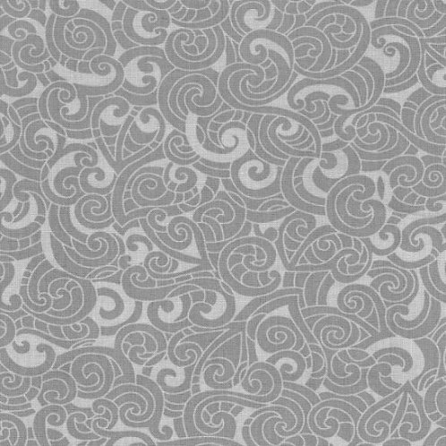 Nutex Kiwiana Moko Grey Quilt Fabric 85200 Col11