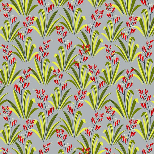 Nutex Novelty Forest Song Flax Quilt Fabric 89590 Col7