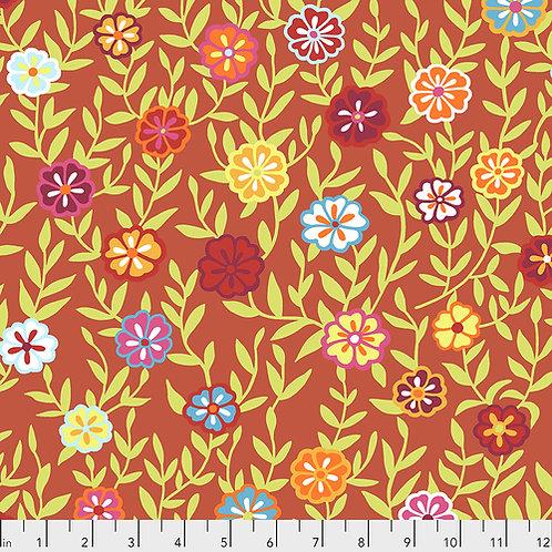 Kaffe Fassett Feb2020 - Busy Lizzy PWGP175 RED Quilt Fabric
