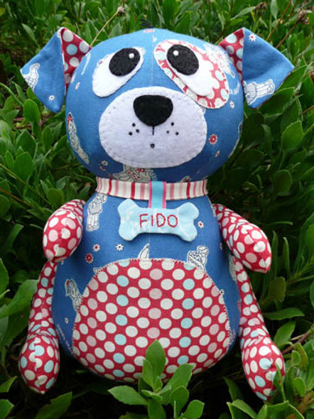 """Melly and Me """"Fido"""" Dog Soft Toy Pattern MM043"""