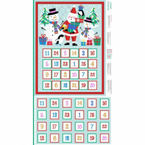 "Makower Jolly Santa Advent Calendar 60cm / 24"" panel"