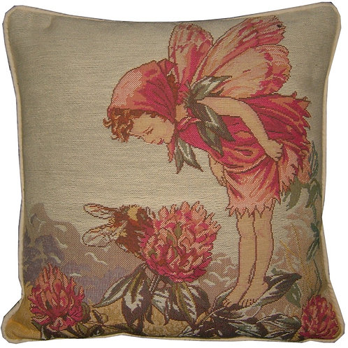 Flower Fairies Pink Clover Tapestry Cushion Cover
