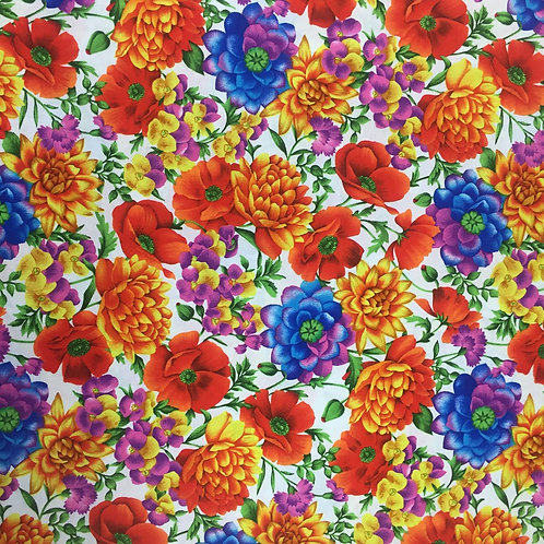 In Bloom Bright Petals 23849-6 Quilt Fabric - Nutex