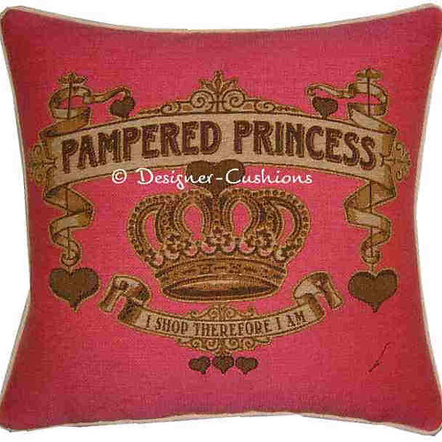 Pampered Princess Pink Tapestry Cushion Cover