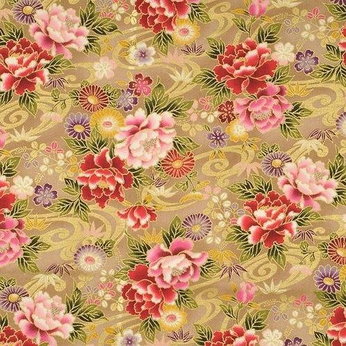 Quiltgate Hyakka Ryoran Col 13 Quilt Fabric