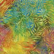 Island Batiks 111501076 Flower Fields Multi Leaves Quilt Fabric
