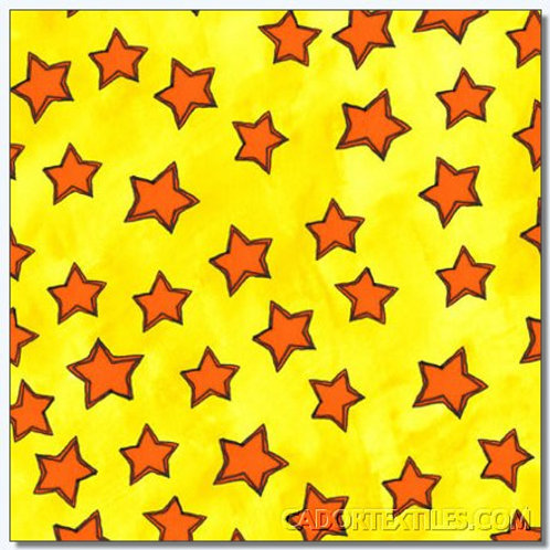 Tara's Brights Yellow Stars Quilt Fabric