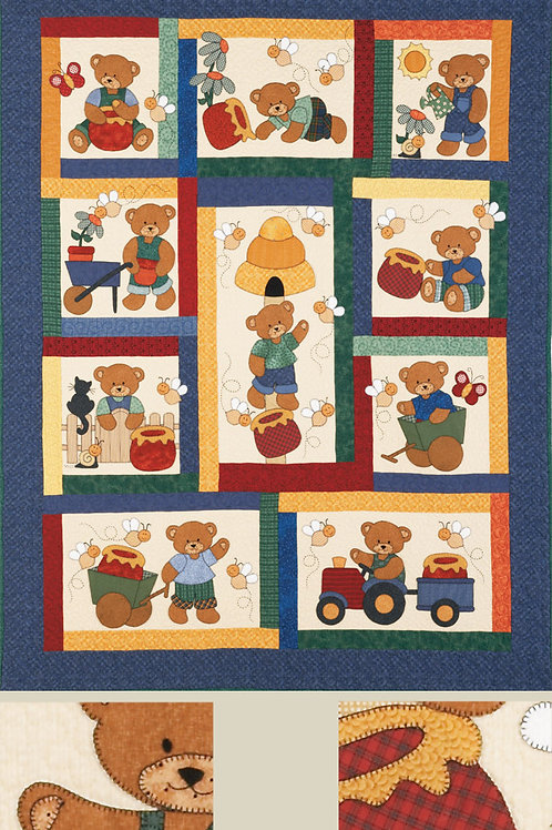 Kids Quilts 'Honey Bears' Single Quilt Pattern