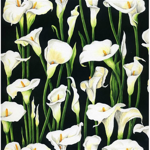 Nutex Lillies Quilt Fabric 89380 Col2