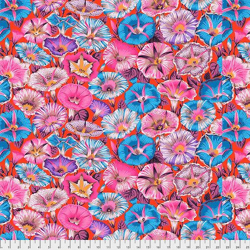 Kaffe Fassett Spring 2019 - Variegated Morning Glory Red PJ098 Quilt Fabric
