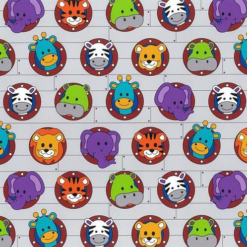 Nutex Novelty Little Noah Portholes 80190 Col3 Quilt Fabric