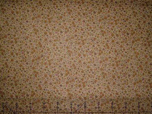 Japanese Granny's Trunk Miniature Floral Quilt Fabric Col 3