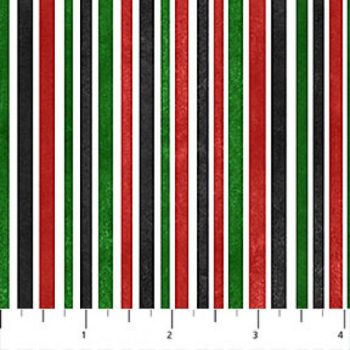 Northcott Up On A Rooftop Christmas Stripe Quilt Fabric
