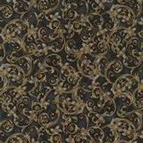 Robert Kaufman Winters Grandeur Onyx SRKM-15887-181 Metallic Quilt Fabric