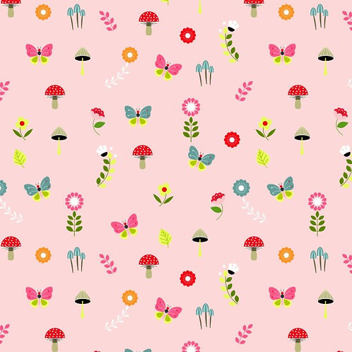 Nutex Novelty Willow Floral 80250 Col3 Quilt Fabric