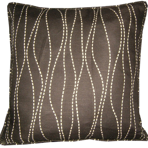 "Romo Merril Black 45cm (18"") Cushion Cover"