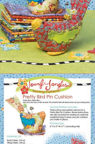 Jennifer Jangles Pattern 'Pretty Bird Pin Cushion'