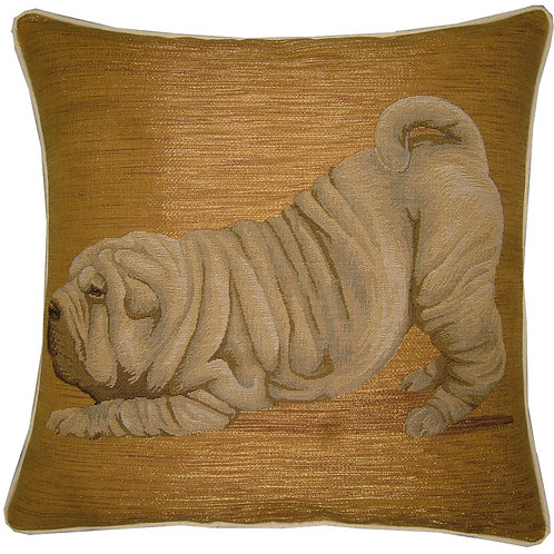 Sharpei Crouching Tapestry Cushion Cover