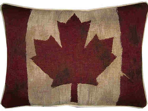 Vintage Style Canada Flag Tapestry Oblong Cushion Cover