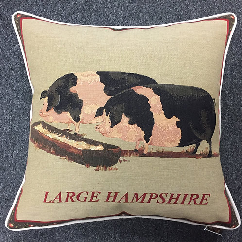 Large Hampshire Pigs Tapestry Cushion Cover