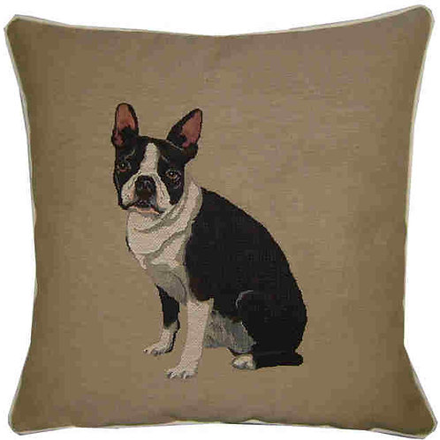 Boston Terrier Tapestry Cushion Cover