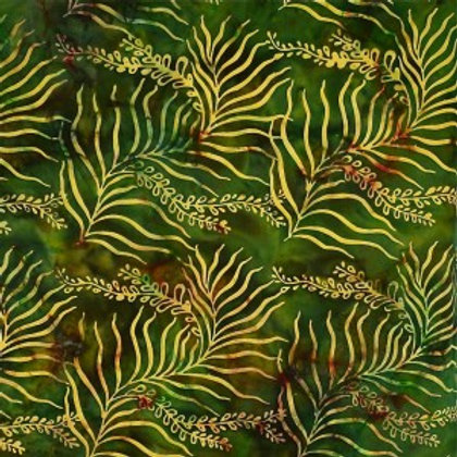 Mirah Zriya Green Curry Batik Mosstone P/GC-01-7303 Quilt Fabric