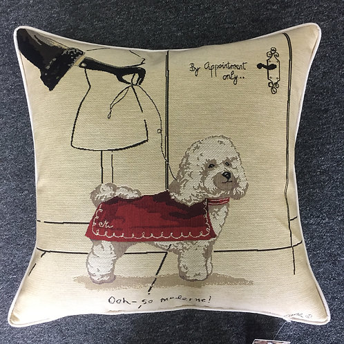 Alex Clark Bichon Frise Tapestry Cushion Cover