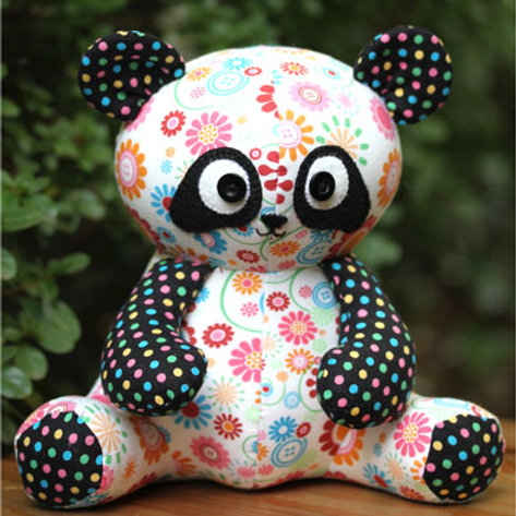 """Melly and Me """"Pookie"""" Panda Soft Toy Pattern MM117"""