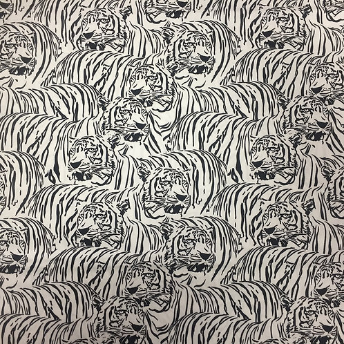 Nutex Puppets Black & White Tigers 23859-16 Quilt Fabric