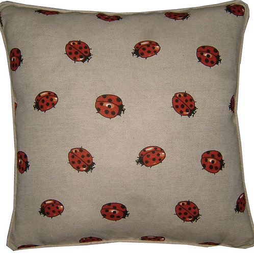 Ladybird Linen Cushion Cover