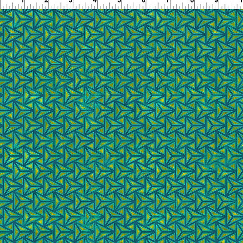 "Jason Yenter ""Cosmos"" Green Triangles 11COS-1 Quilt Fabric"