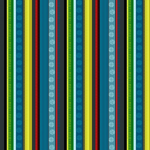 Nutex Novelty Forest Song Stripe Quilt Fabric 89590 Col4